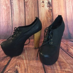 Jeffrey Campbell Platform Lace up heels